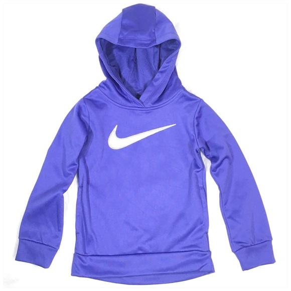 Nike Other - Nike Girls Therma Hoodie in Purple Silver Glitter
